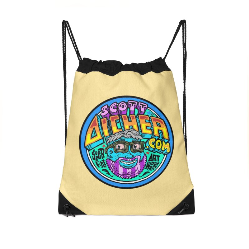 Moppy Aicher Accessories Drawstring Bag Bag by Popkustomshoppe Artist Shop