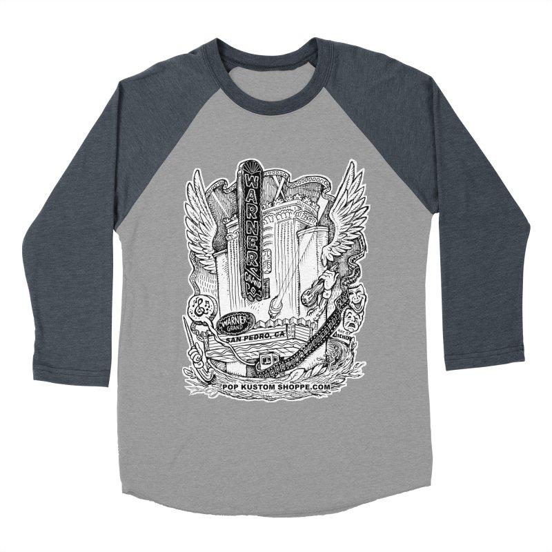 Warner Grand Theater by Aicher Women's Baseball Triblend Longsleeve T-Shirt by Popkustomshoppe Artist Shop