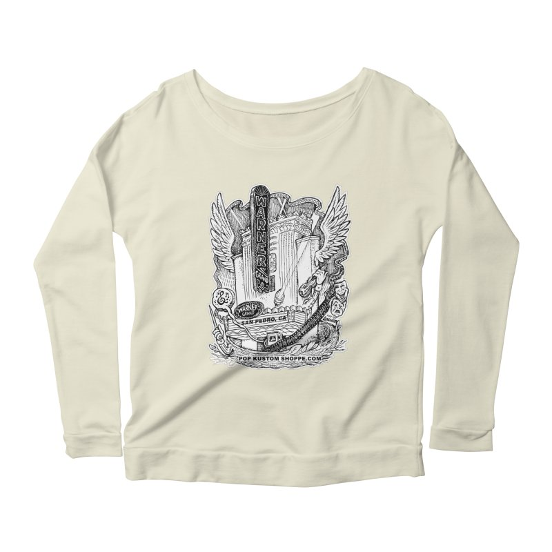 Warner Grand Theater by Aicher Women's Scoop Neck Longsleeve T-Shirt by Popkustomshoppe Artist Shop
