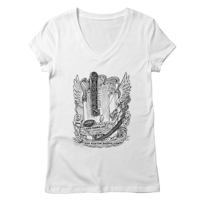 Warner Grand Theater by Aicher Women's Regular V-Neck by Popkustomshoppe Artist Shop
