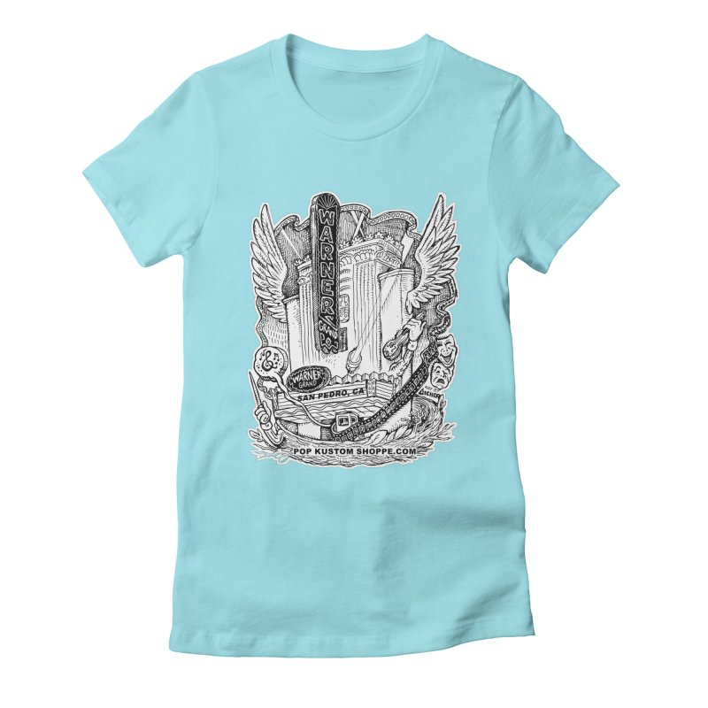 Warner Grand Theater by Aicher Women's Fitted T-Shirt by Popkustomshoppe Artist Shop