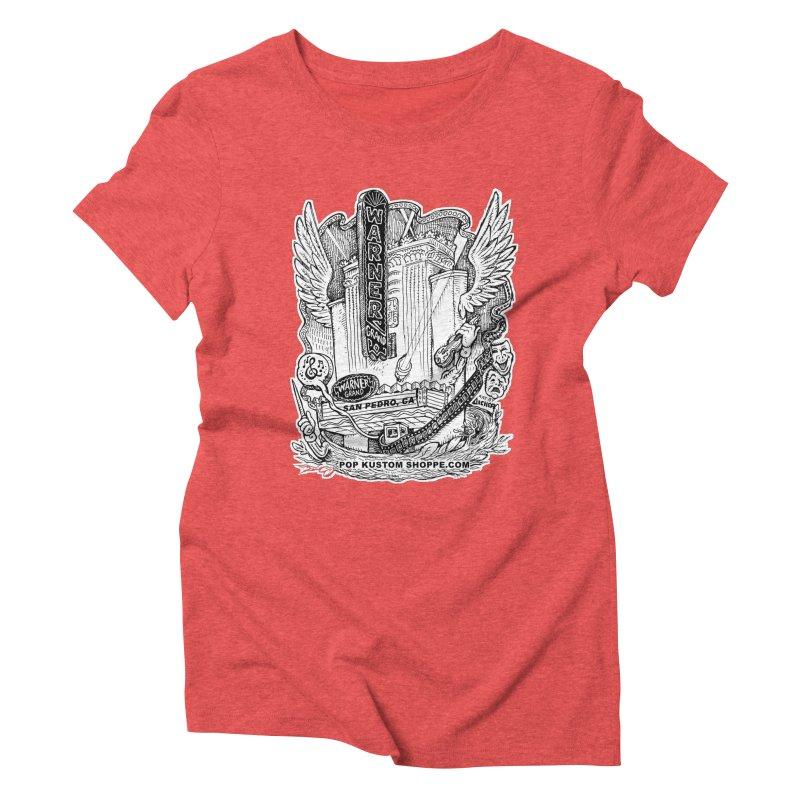 Warner Grand Theater by Aicher Women's Triblend T-Shirt by Popkustomshoppe Artist Shop