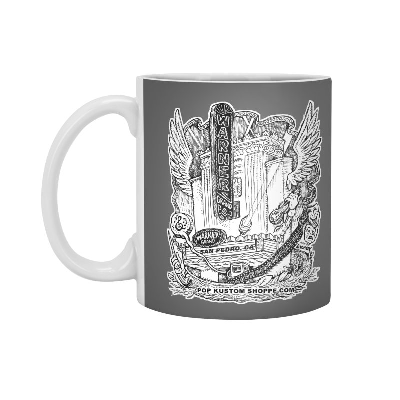 Warner Grand Theater by Aicher Accessories Mug by Popkustomshoppe Artist Shop