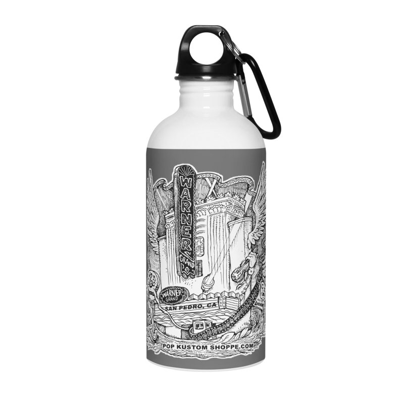 Warner Grand Theater by Aicher Accessories Water Bottle by Popkustomshoppe Artist Shop