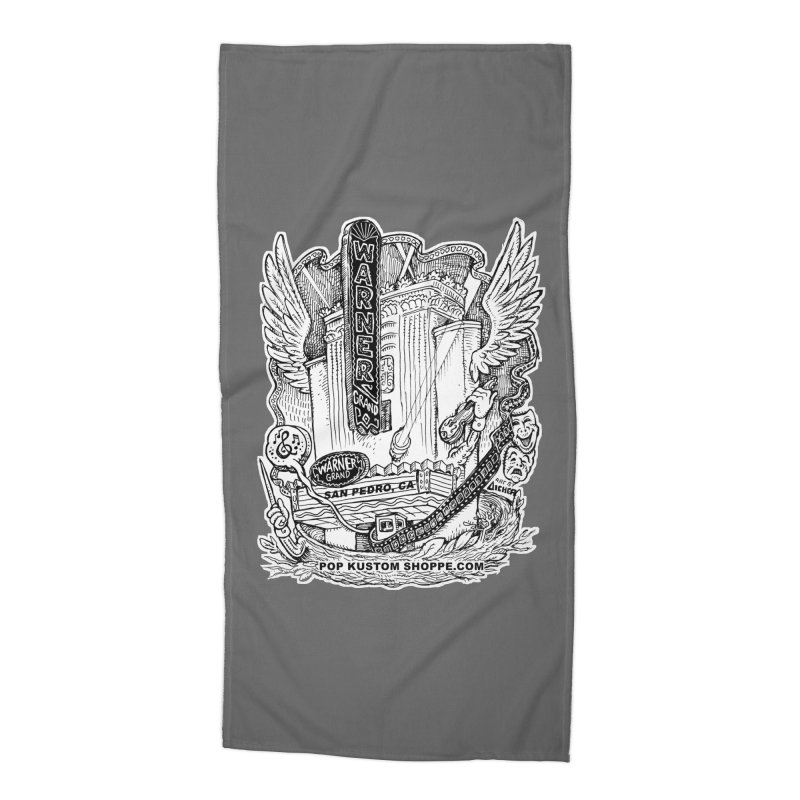 Warner Grand Theater by Aicher Accessories Beach Towel by Popkustomshoppe Artist Shop