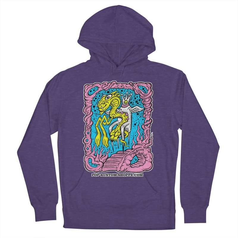 Aicher King Dragon Women's French Terry Pullover Hoody by Popkustomshoppe Artist Shop