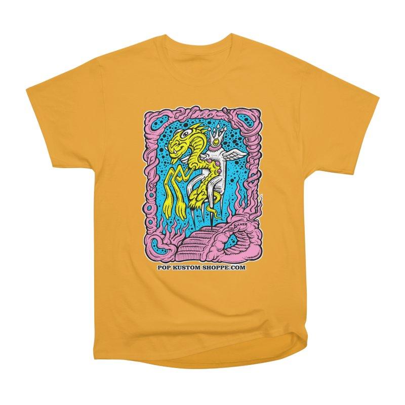 Aicher King Dragon Women's Heavyweight Unisex T-Shirt by Popkustomshoppe Artist Shop