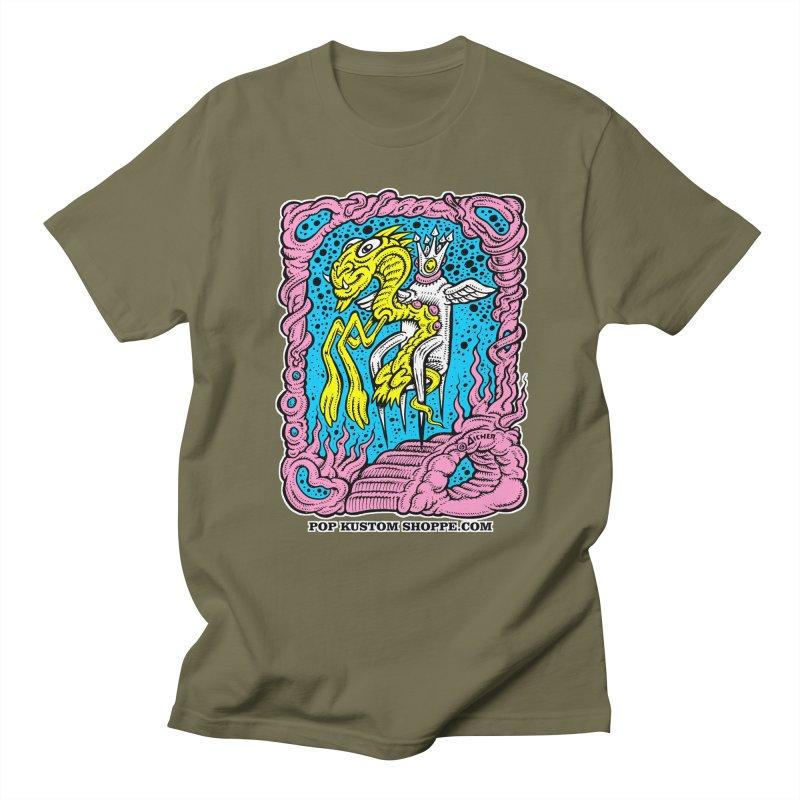 Aicher King Dragon Women's Regular Unisex T-Shirt by Popkustomshoppe Artist Shop