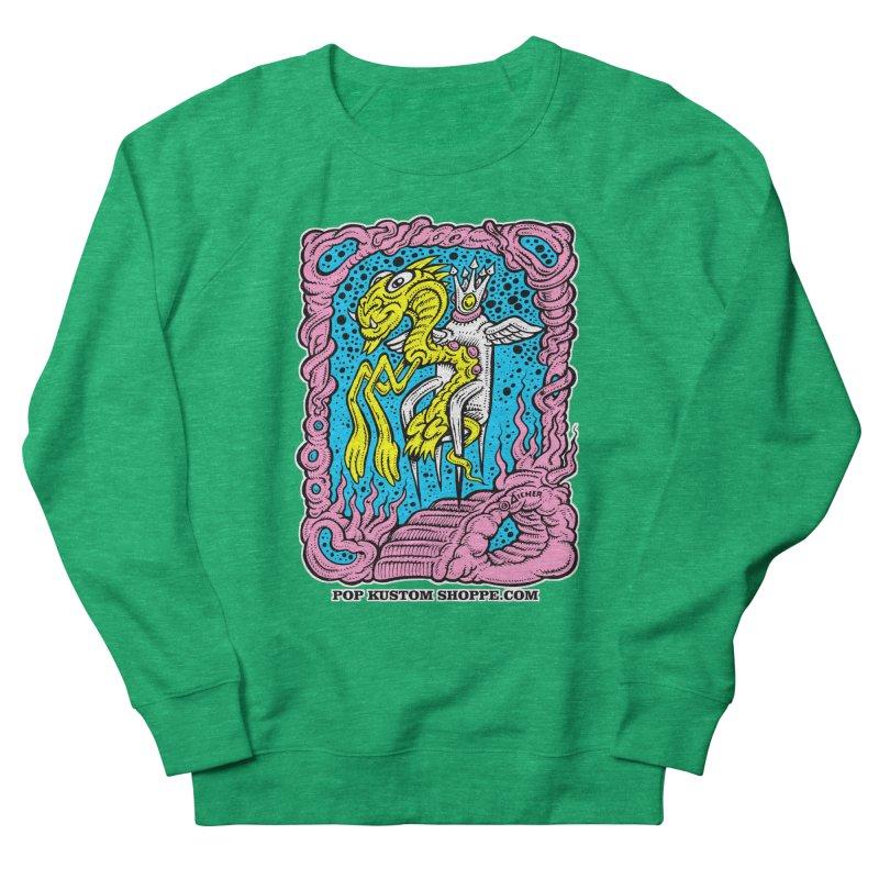 Aicher King Dragon Women's French Terry Sweatshirt by Popkustomshoppe Artist Shop