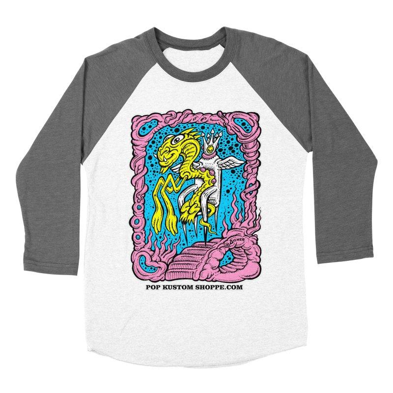 Aicher King Dragon Women's Baseball Triblend Longsleeve T-Shirt by Popkustomshoppe Artist Shop