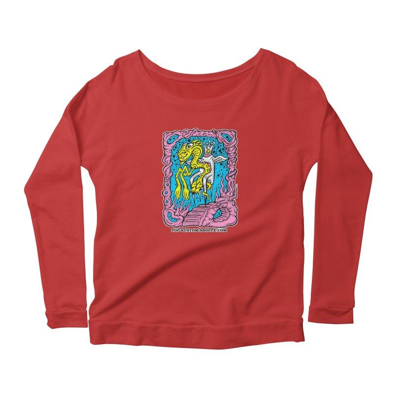 Aicher King Dragon Women's Scoop Neck Longsleeve T-Shirt by Popkustomshoppe Artist Shop