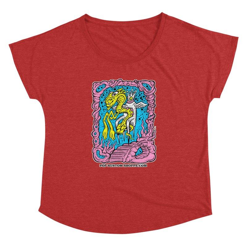 Aicher King Dragon Women's Dolman Scoop Neck by Popkustomshoppe Artist Shop