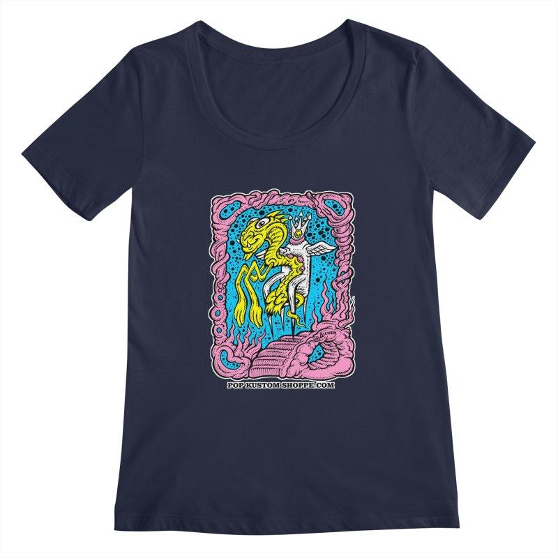 Aicher King Dragon Women's Regular Scoop Neck by Popkustomshoppe Artist Shop