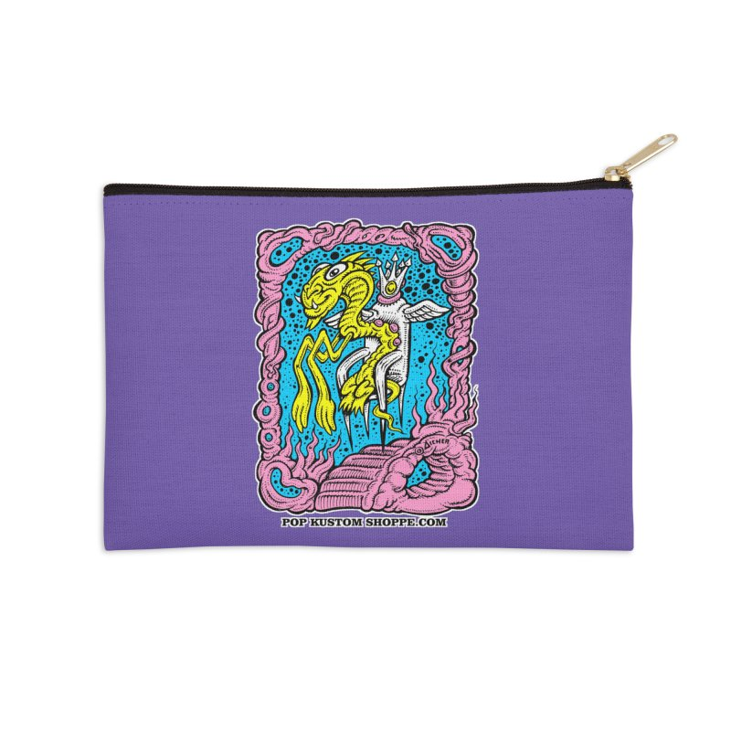 Aicher King Dragon Accessories Zip Pouch by Popkustomshoppe Artist Shop
