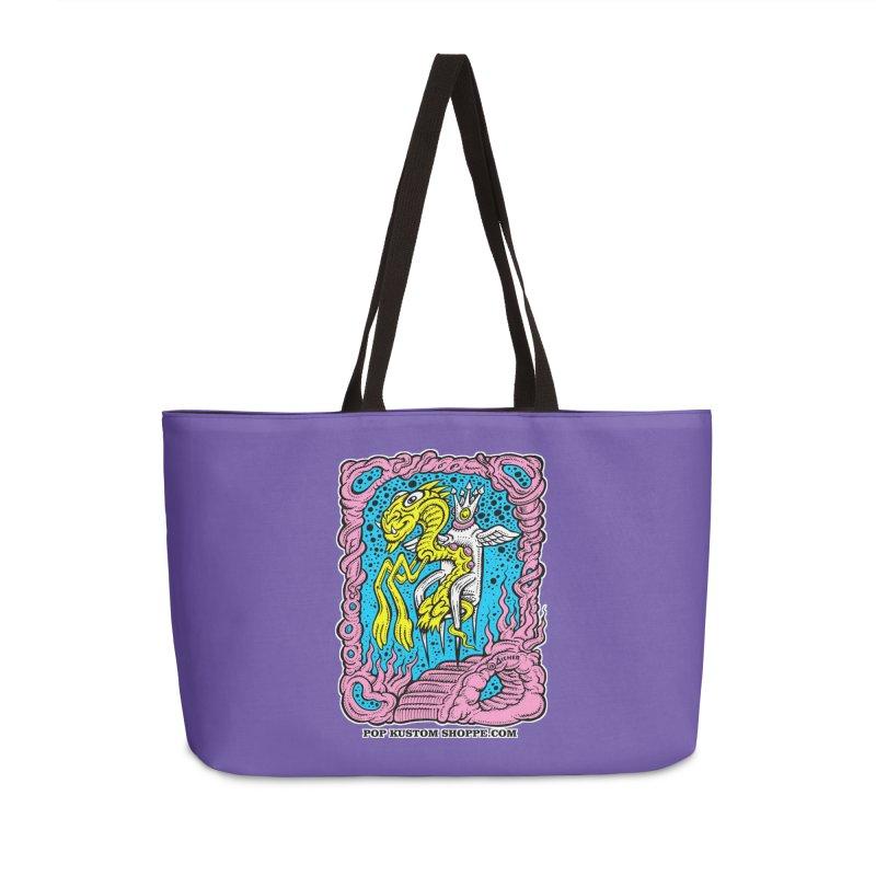 Aicher King Dragon Accessories Weekender Bag Bag by Popkustomshoppe Artist Shop