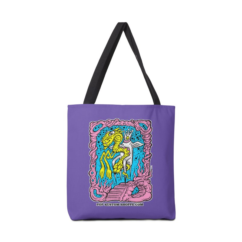Aicher King Dragon Accessories Tote Bag Bag by Popkustomshoppe Artist Shop