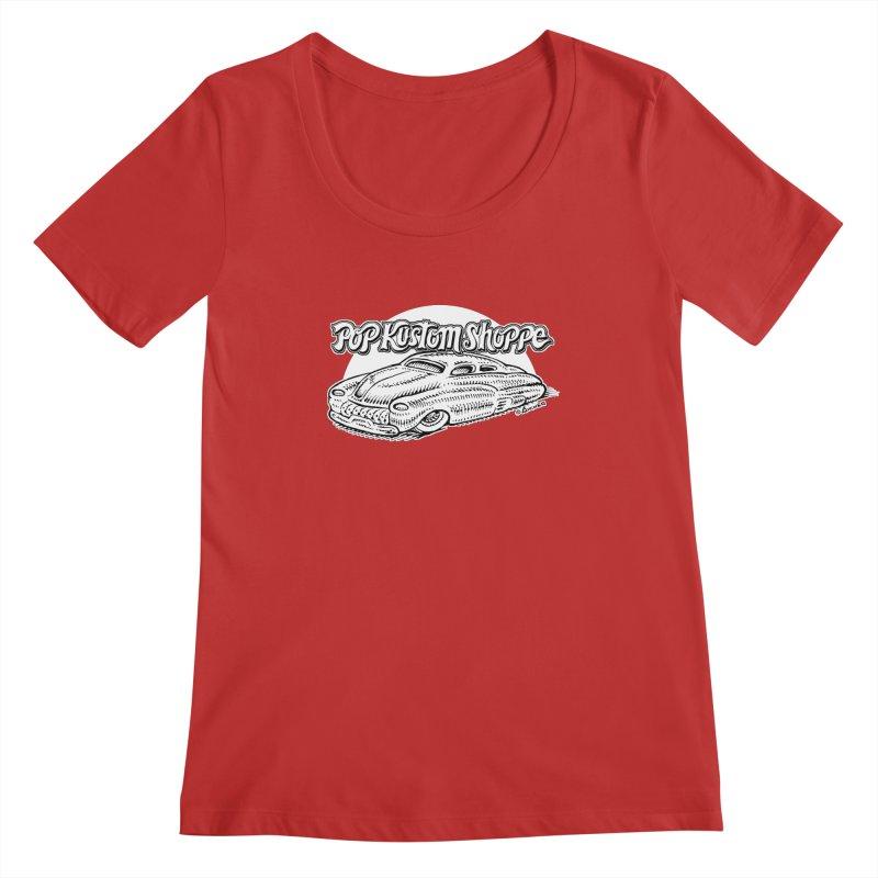 Aichermerc Women's Regular Scoop Neck by Popkustomshoppe Artist Shop