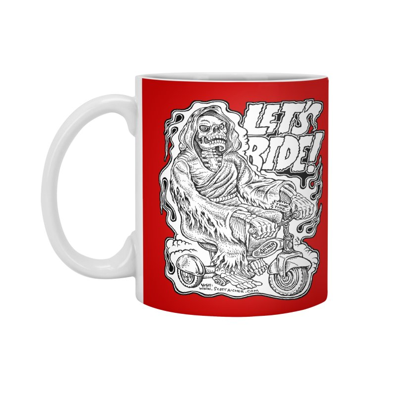 Let's Ride! by Aicher Accessories Mug by Popkustomshoppe Artist Shop
