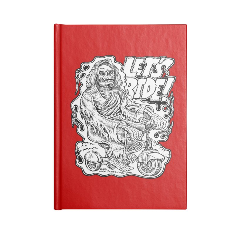 Let's Ride! by Aicher Accessories Blank Journal Notebook by Popkustomshoppe Artist Shop
