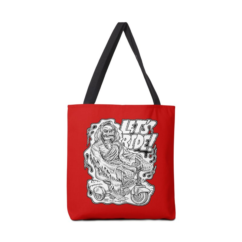 Let's Ride! by Aicher Accessories Tote Bag Bag by Popkustomshoppe Artist Shop