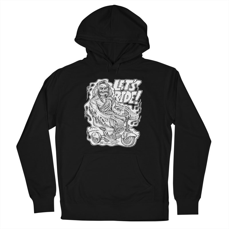 Let's Ride! by Aicher Women's French Terry Pullover Hoody by Popkustomshoppe Artist Shop