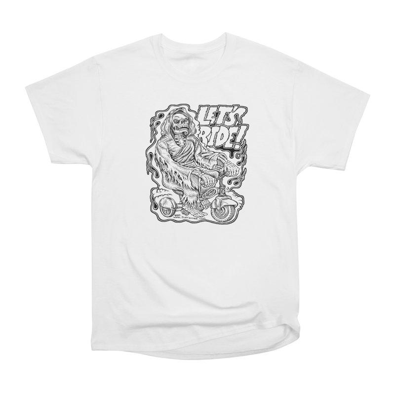 Let's Ride! by Aicher Women's Heavyweight Unisex T-Shirt by Popkustomshoppe Artist Shop