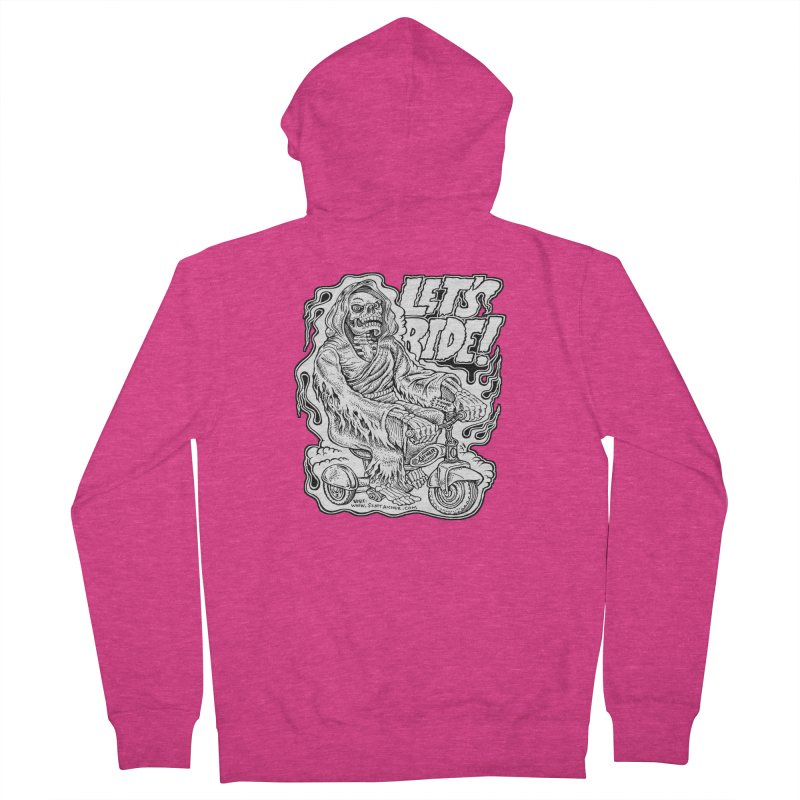 Let's Ride! by Aicher Women's French Terry Zip-Up Hoody by Popkustomshoppe Artist Shop