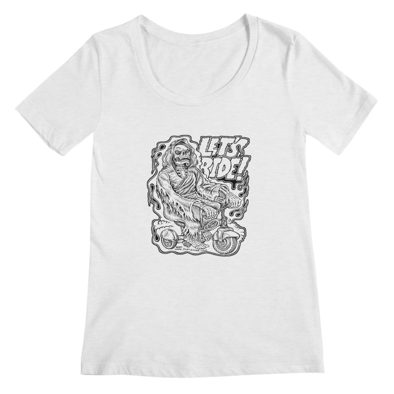 Let's Ride! by Aicher Women's Scoop Neck by Popkustomshoppe Artist Shop
