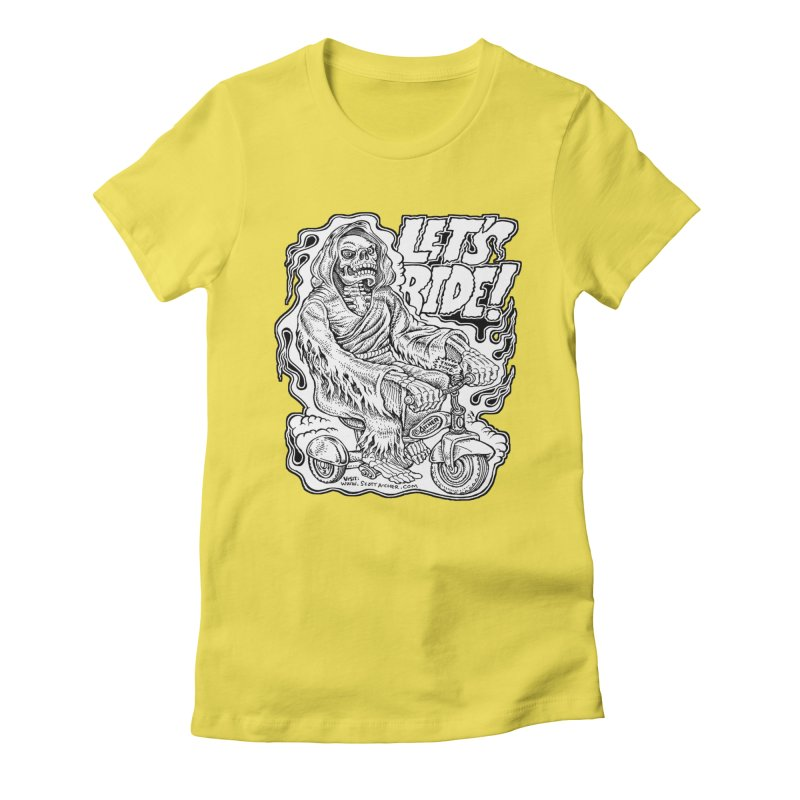 Let's Ride! by Aicher Women's Fitted T-Shirt by Popkustomshoppe Artist Shop