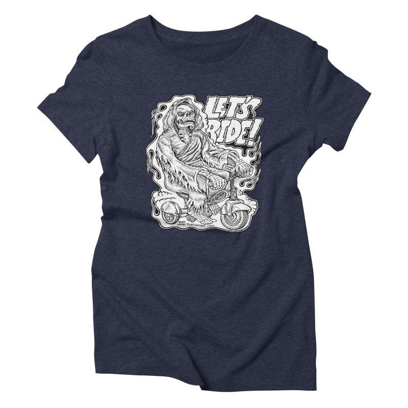 Let's Ride! by Aicher Women's Triblend T-Shirt by Popkustomshoppe Artist Shop
