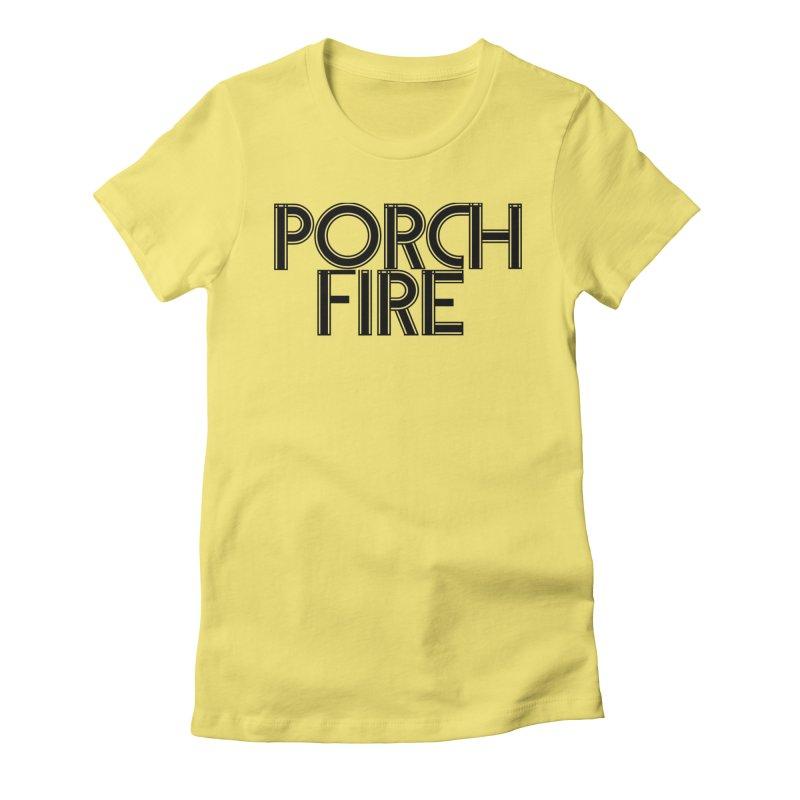 Classic Font Shirt Women's Fitted T-Shirt by Porchfire's Artist Shop