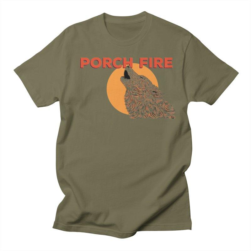 Wolf Men's Regular T-Shirt by Porchfire's Artist Shop