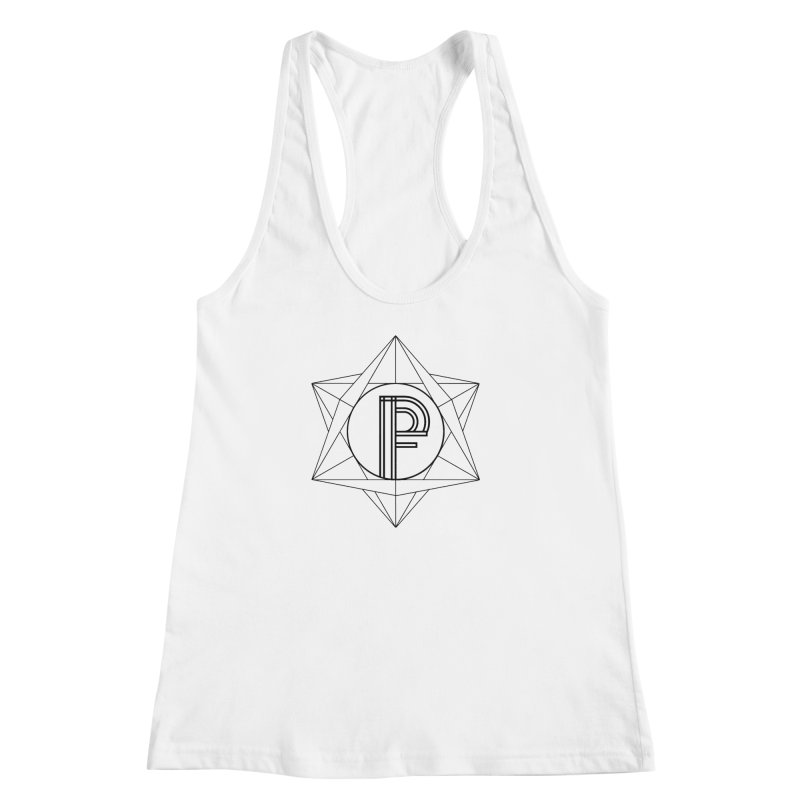 Classic Logo - Sacred Geometry Women's Racerback Tank by Porchfire's Artist Shop