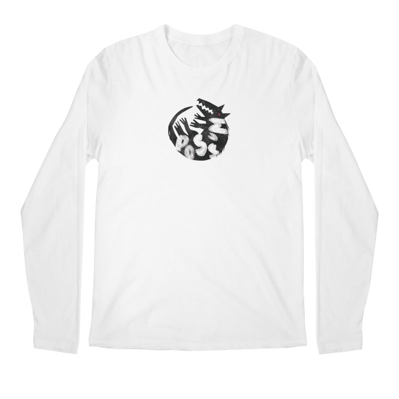 Possum by Kate Burns  Men's Regular Longsleeve T-Shirt by Possum's Artist Shop
