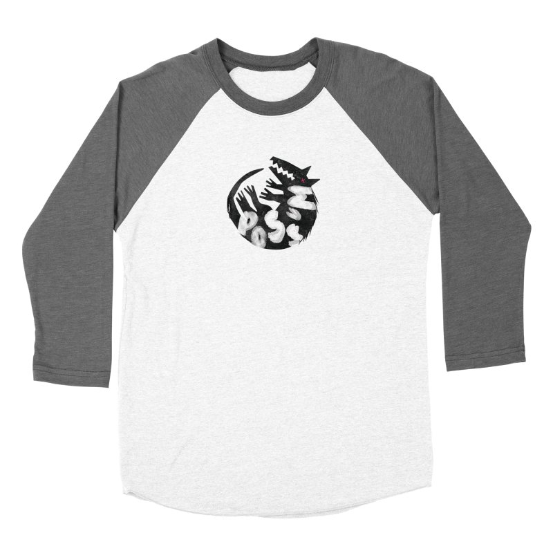 Possum by Kate Burns  Women's Baseball Triblend Longsleeve T-Shirt by Possum's Artist Shop