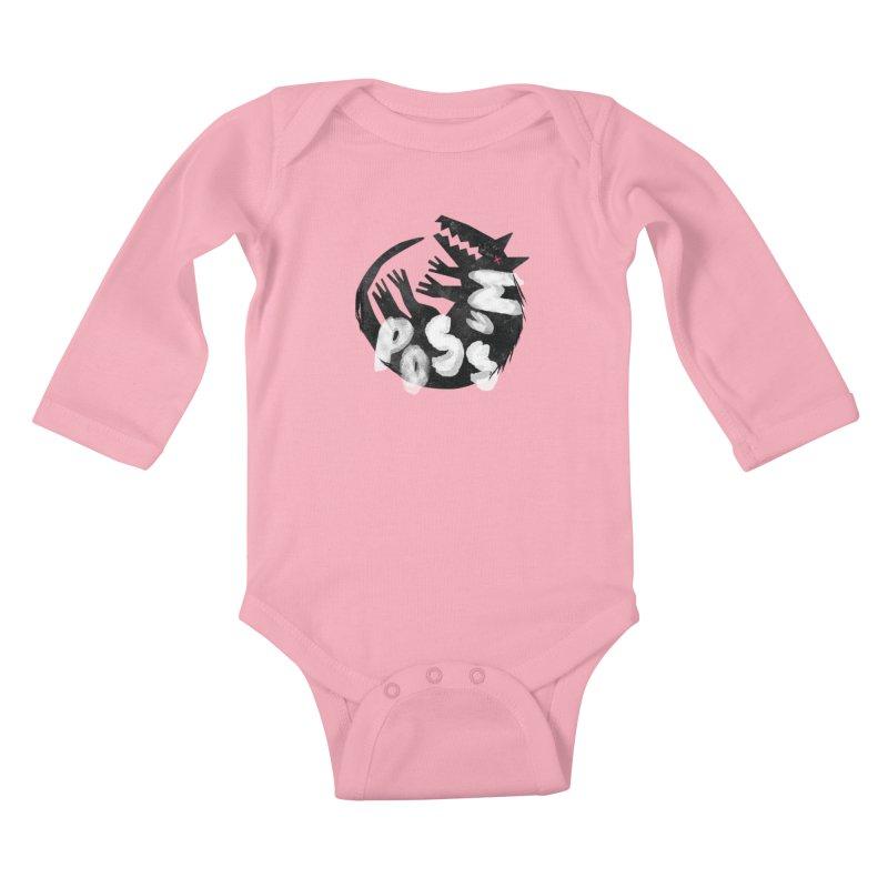 Possum by Kate Burns  Kids Baby Longsleeve Bodysuit by Possum's Artist Shop