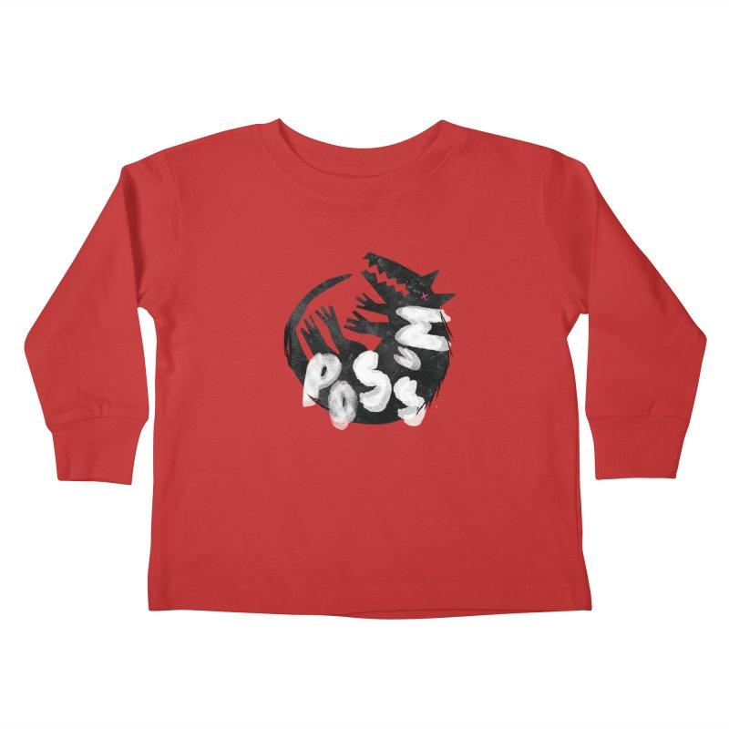 Possum by Kate Burns  Kids Toddler Longsleeve T-Shirt by Possum's Artist Shop