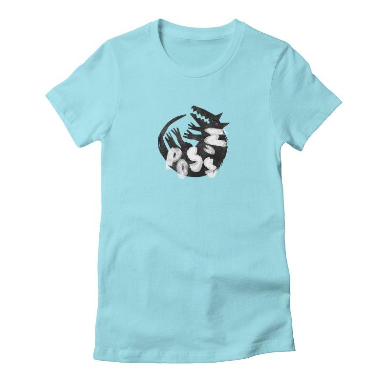 Possum by Kate Burns  Women's Fitted T-Shirt by Possum's Artist Shop