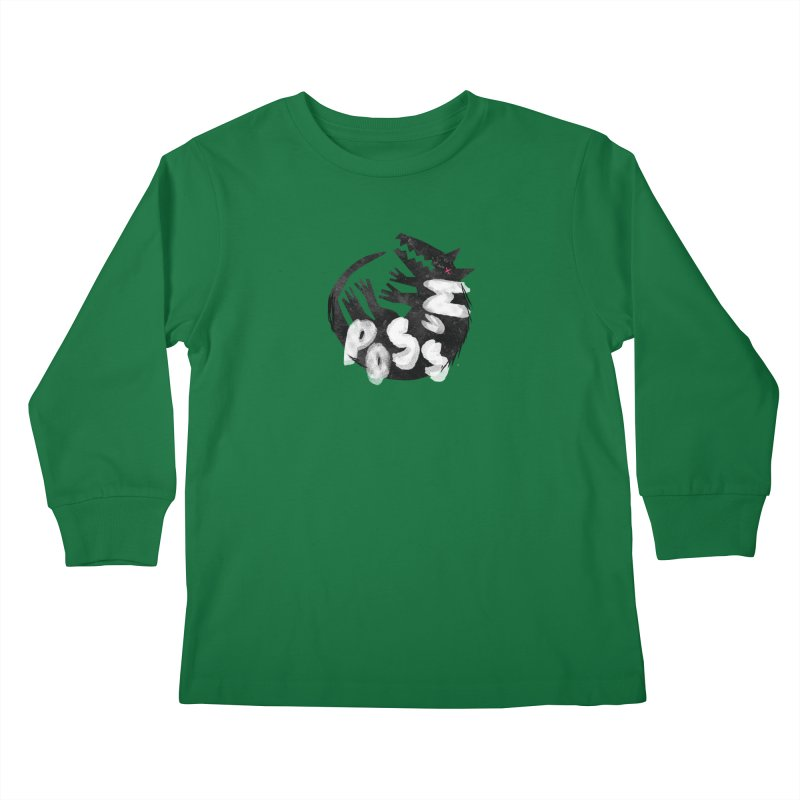 Possum by Kate Burns  Kids Longsleeve T-Shirt by Possum's Artist Shop