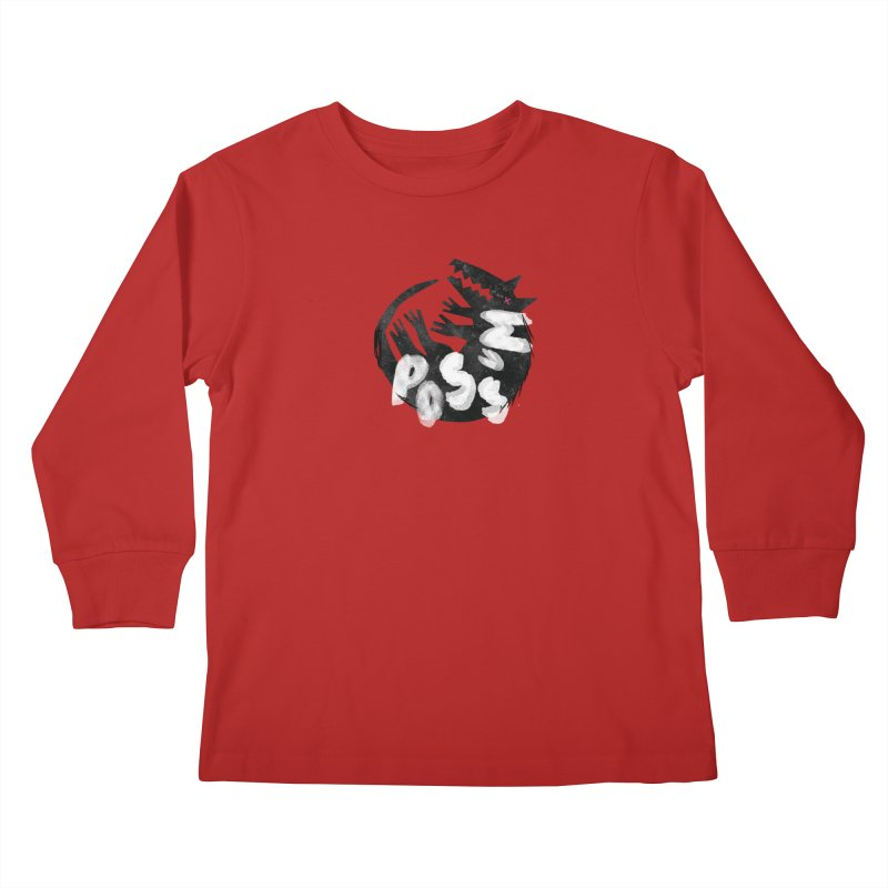 Possum by Kate Burns  Kids Longsleeve T-Shirt by Possum's Artist Shop