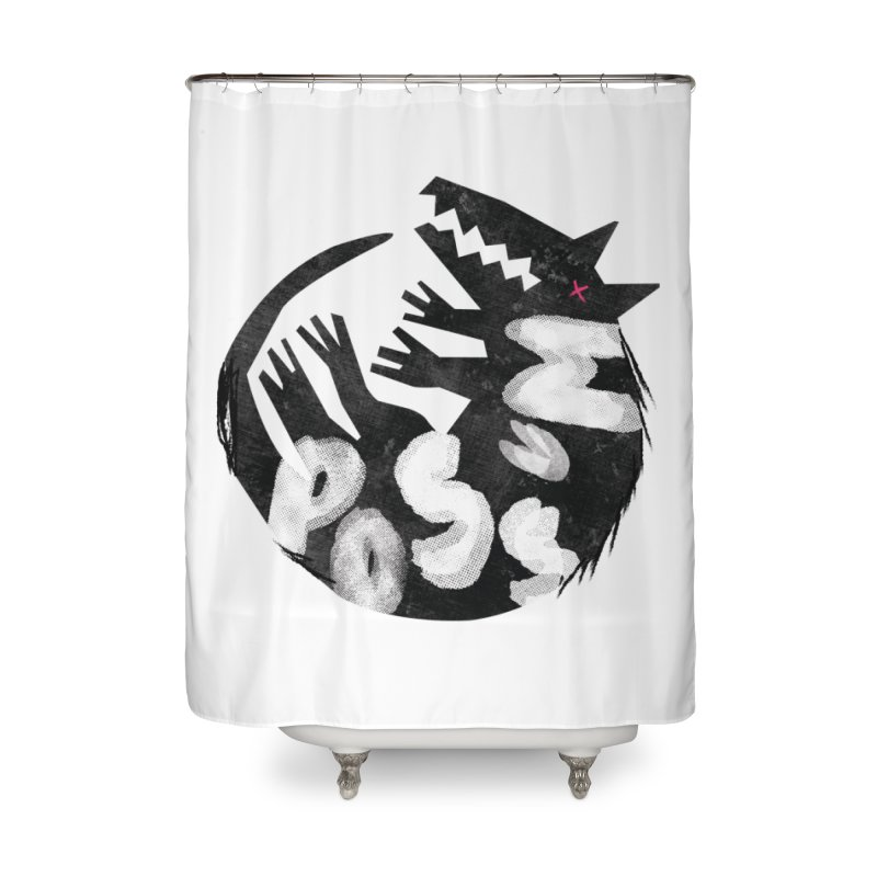Possum by Kate Burns  Home Shower Curtain by Possum's Artist Shop