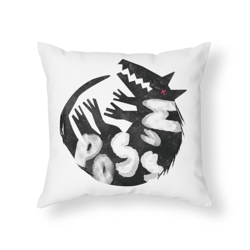 Possum by Kate Burns  in Throw Pillow by Possum's Artist Shop