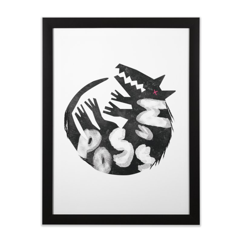 Possum by Kate Burns  Home Framed Fine Art Print by Possum's Artist Shop