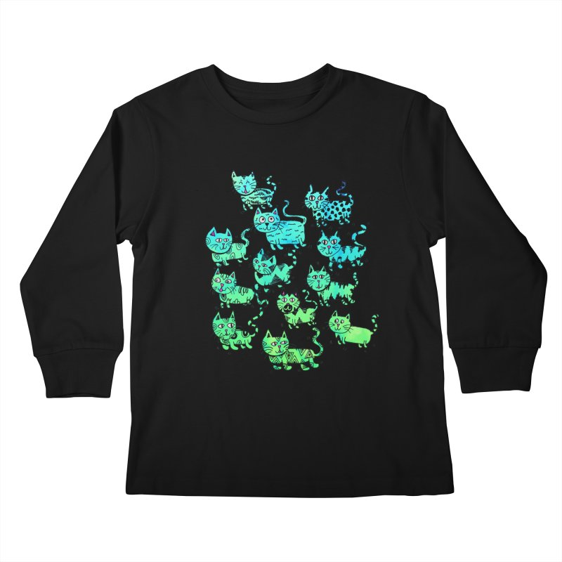 Catwater Kids Longsleeve T-Shirt by PRINTMEGGIN