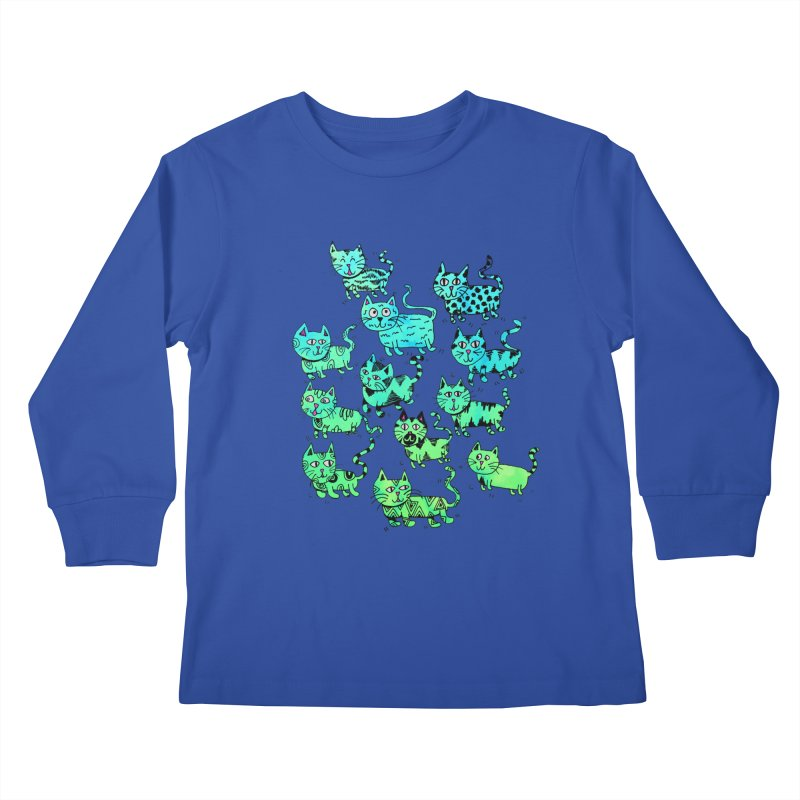 Catwater Kids Longsleeve T-Shirt by PRINTMEGGIN