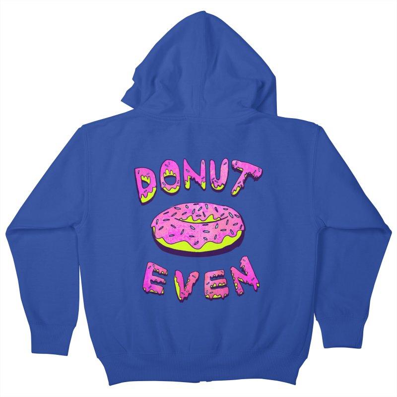Donut Even Kids Zip-Up Hoody by PRINTMEGGIN
