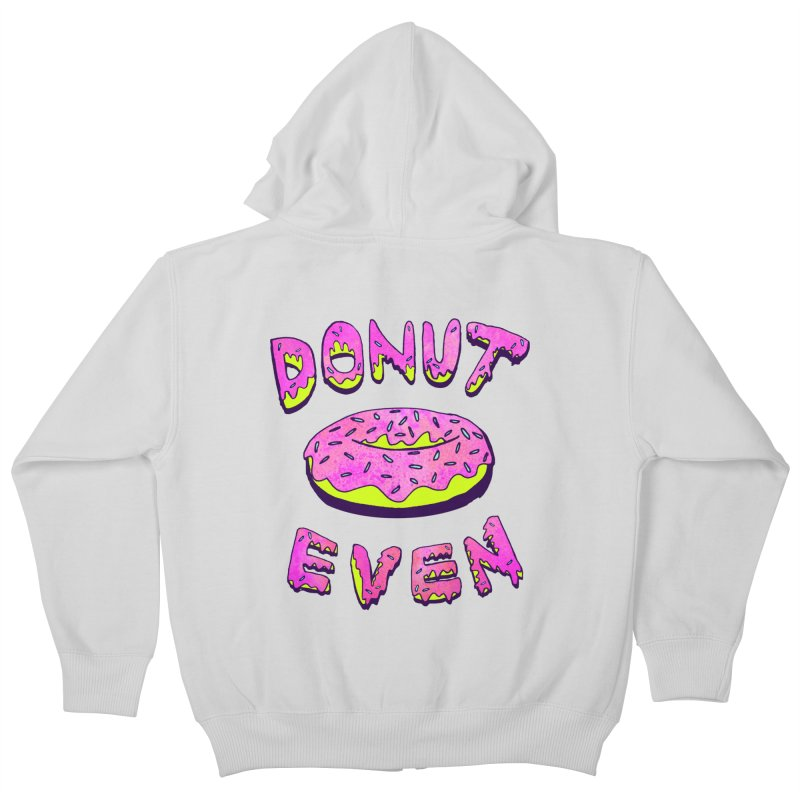 Donut Even Kids Zip-Up Hoody by PRINTMEGGIN