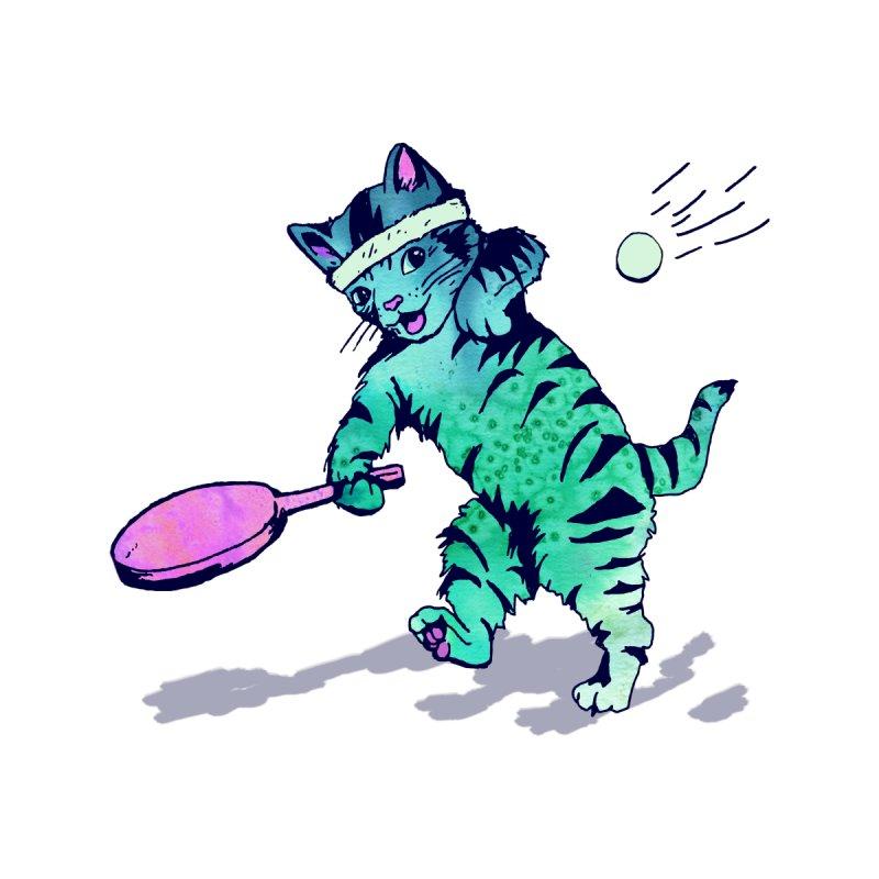 Ping Pong Puss Women's Triblend T-shirt by PRINTMEGGIN