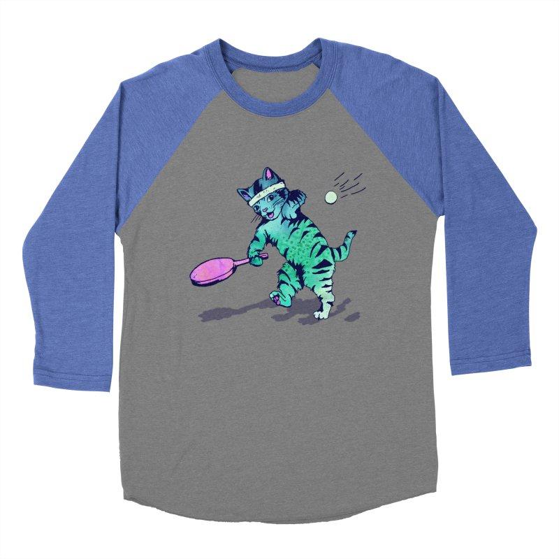 Ping Pong Puss Men's Baseball Triblend T-Shirt by PRINTMEGGIN