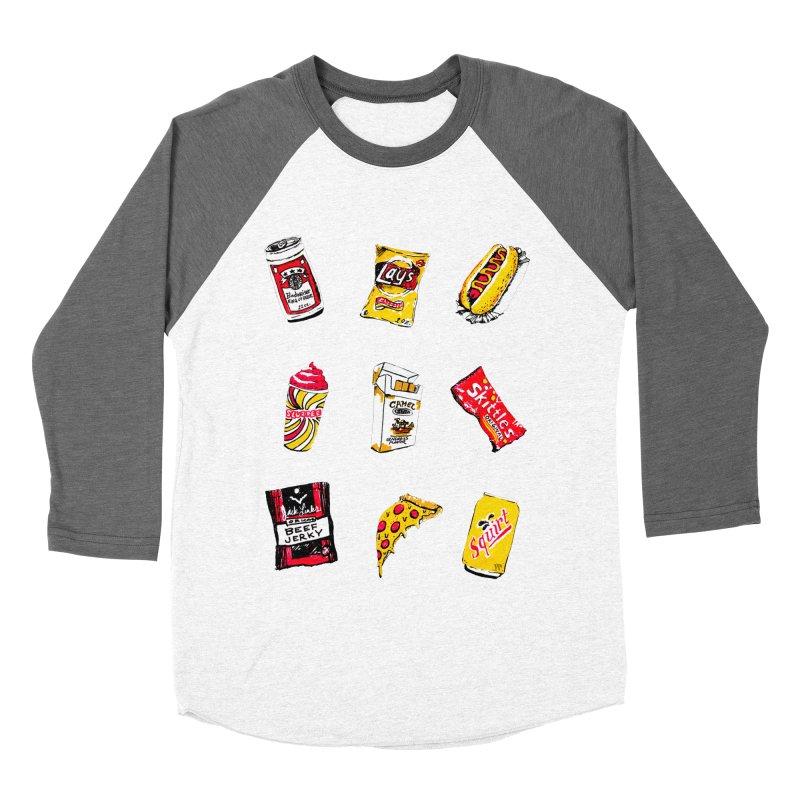 Snacksterpiece Men's Baseball Triblend T-Shirt by PRINTMEGGIN